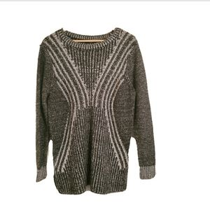 Mossimo Pullover Black/Gray Knit Sweater Size XXL